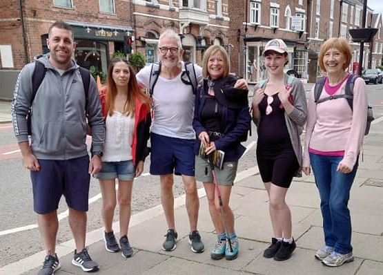 Salon toasts kind-hearted Nantwich people after charity trek